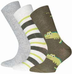 EWERS 3pack chlapčenských ponožiek s krokodílom 201296
