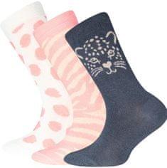 EWERS 3pack dievčenských ponožiek s mačkou 201280