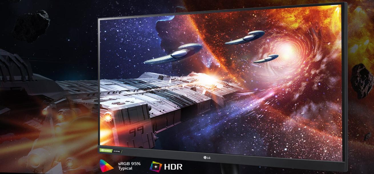 Monitor do gier LG 32GN500 - nano IPS, SRGB, 100 kolorów