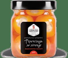 Gurmano Oranžové papričky plněné sýrem HOT palivé, 290g