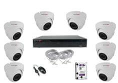 Monitorrs Security IP 8 kamerový set 5 Mpix Dome