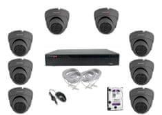 Monitorrs Security IP 8 kamerový set 2 Mpix Dome