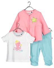 Blue Seven 422122 X kompletu za djevojčice s majicom, hlačama i jaknom