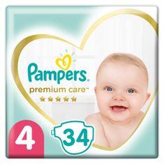 Pampers Premium Care pelenka, Méret 4, 34 db, 9kg-14kg