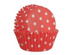 Isabelle Rose Cukrářské košíčky na muffiny červené s puntíky 60 ks
