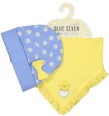 Blue Seven dívčí set čepice a šátek 439500 X
