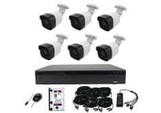 Monitorrs Security AHD 6 kamerový set 2 Mpix Tube Plast