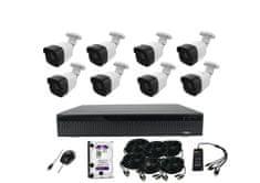 Monitorrs Security AHD 8 kamerový set 5 Mpix Tube Plast