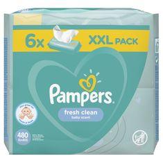 Pampers Fresh Clean Detské vlhčené obrúsky 6× 80 ks