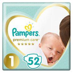 Pampers Premium Care Plienky, Veľkosť 1, 52 ks, 2kg-5kg