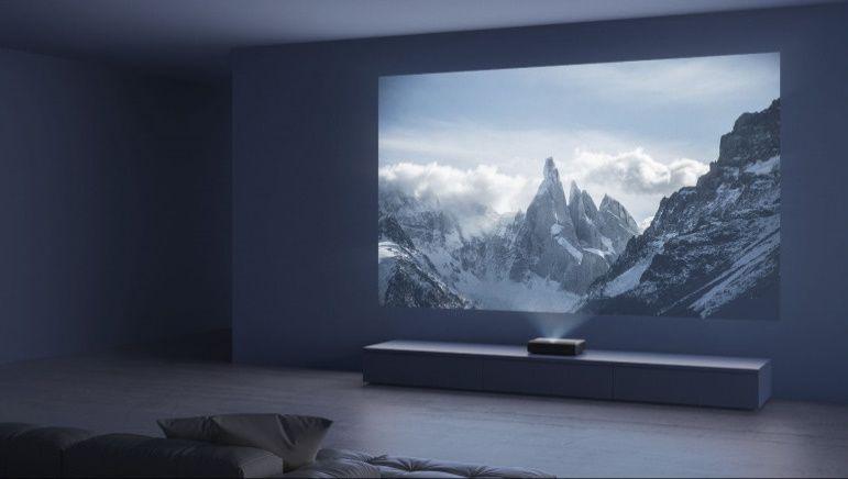 Domáce kino Xiaomi Mi 4K Laser Projector 150´´ (28179), rozlíšenie 4K UHD, realistický obraz, verné farby obraz bez lichobežníkového skreslenia