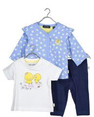 Blue Seven 422128 X dekliški komplet z majico, hlačami in jopo