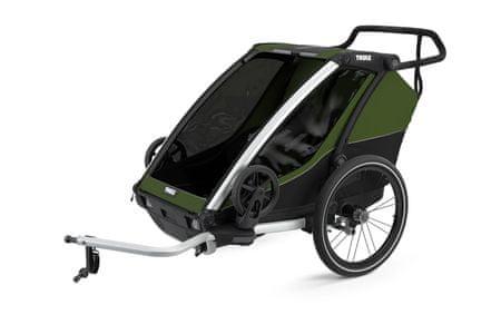 Thule Chariot Cab 2 kolica za djecu, Cypress Green