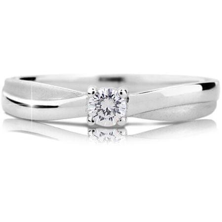 Cutie Diamonds Luxus fehérarany eljegyzési gyűrű gyémánttal DZ6817-1906-00-X-2 (Kerület 53 mm) fehér arany 585/1000