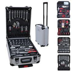 Timeless Tools 187 részes barkácskészlet gurulós bőröndben