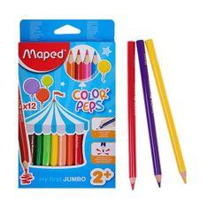 Maped Ołówki trójstronne zagęszczane 12 kolorów mapped color peps