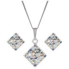 Evolution Group Stříbrná souprava třpytivých šperků 39126.3 (náušnice, řetízek, přívěsek) stříbro 925/1000
