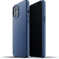 Mujjo Full Leather Case - bőr tok az iPhone 12 Pro Max készülékhez, MUJJO-CL-009-BL, kék