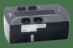Eurocase UPS Záložní zdroj EA200PLUS EVO 650VA LINE INTERACTIVE (4x česká zásuvka)