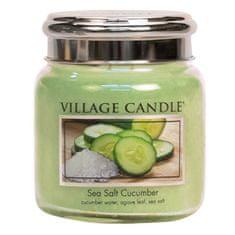 Village Candle Dišeča sveča v steklu Morska sol Cucumber 390 g