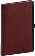 Notes - Hardy červený, linkovaný, 13 × 21 cm