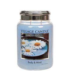 Village Candle Dišeča sveča v steklu Body & Mind Limited Edition 602 g