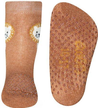 EWERS neklizajuće čarape za dječake 225064, 19- 22, smeđe