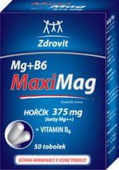 NP PHARMA Zdrovit MaxiMag Hořčík 375mg+B6 tob.50