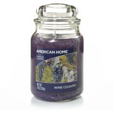 Yankee Candle American Home Wine Country gyertya, 538 g