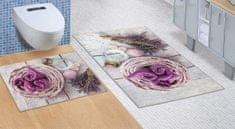 Brotex  Koupelnová sada předložek 3D 60x100+60x50cm BEZ VÝKROJE levandule