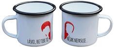Super plecháček Smaltovaný hrneček plecháček pro pár DUO102 330 ml 2 kusy