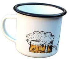 Super plecháček Smaltovaný hrnek plecháček pro pivaře V102 330 ml