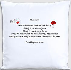 Super plecháček Dekorační polštářek s dopisem pro maminku 40 x 40 cm Oboustranný tisk: NE, Varianta: s výplní