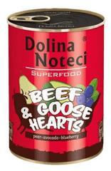DOLINA NOTECI Dolina Noteci Superfood Hovězí a husí srdce 400g