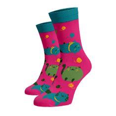 BENAMI Veselé ponožky Nejkulaťoulinkatější Kočky Růžová Bavlna 35-38