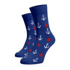 BENAMI Veselé ponožky Námořnické Modrá Bavlna 39-41