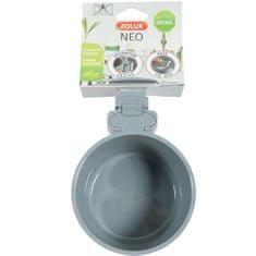 Zolux NEO Enyhén megemelt peremű műanyag tál rágcsálóknak 500ml- szürke