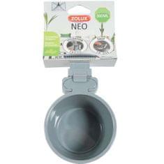 Zolux NEO Enyhén megemelt peremű műanyag tál rágcsálóknak 300ml- szürke