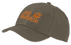 Jack Wolfskin dětská khaki kšiltovka Kids Baseball Cap 1901011-5066495
