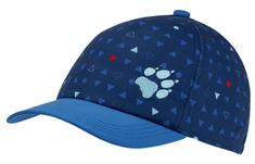 Jack Wolfskin chlapecká tmavě modrá kšiltovka Splash Cap Kids 1906904-8054495