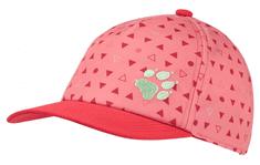 Jack Wolfskin dívčí růžová kšiltovka Splash Cap Kids 1906904-8296495