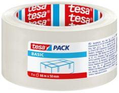 Tesa tesa® Balicí páska BASIC, základní, transparentní, 66m:50mm, 6pack