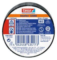 Tesa PVC elektroizolačná páska (IEC 60454-3-1), čierna, 10m x 15mm, 10pack