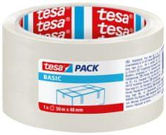 Tesa tesa® Balicí páska BASIC, základní, transparentní, 50m:48mm, 6pack