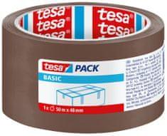 Tesa Baliaca páska tesapack® Basic, páska na lepenie krabíc - na ľahké zásielky a balíky, 50m:48mm, 6pack