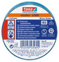 Tesa PVC elektroizolačná páska (IEC 60454-3-1), modrá, 20m x 19mm, 10pack