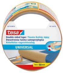 Tesa Obojstranná lepiaca páska tesa® Universal - ideálna na pripevnenie kobercov, dekoračné a ručné práce, 5m x 50mm, 6pack