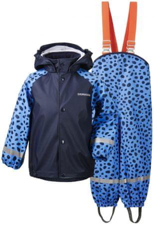 Didriksons1913 Gyerek víztaszító nadrág és kabát szett D1913 Slaskeman Print 503733-856,140, kék