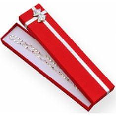 Jan KOS Czerwone pudełko ze wstążkąbransoletka ET-9 / A7 / Ag
