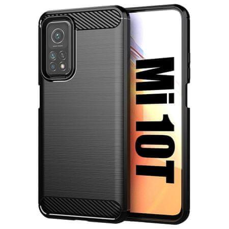 MG Carbon Case Flexible szilikon tok Xiaomi Mi 10T Pro / Mi 10T, fekete